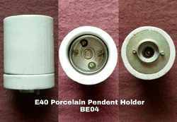 Porcelain E40 Pendent Type Lamp Holder BE04