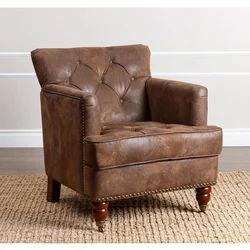 Living Tafton Antique Brown Fabric Club Chair