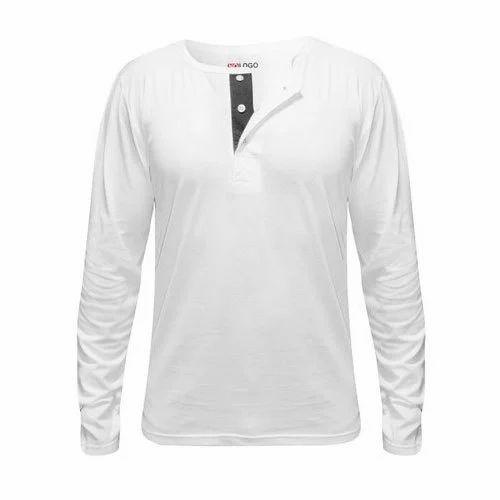 6063e0ecd6 Men White Henley T Shirts