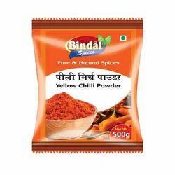 Bindal 500 g Yellow Chili Powder, Packaging: Packet