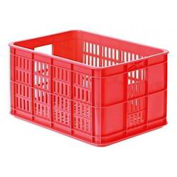 Red Plastic Vegetable Crate
