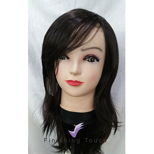 Finishing Touch Black Short Hair Wig Shoulder Length For Personal Rs 500 Piece Id 18050939655