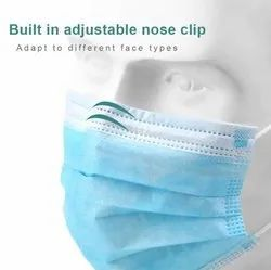 Cotton Disposable 3 Ply Face Mask (With Nose Pin)