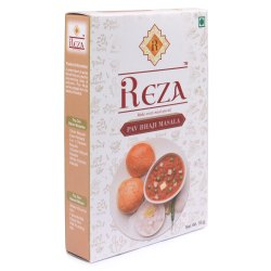 Reza Pav Bhaji Masala, Packaging Size: 50g