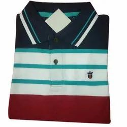 Mens Knitted Polo T-Shirt