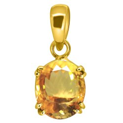 Citrine Pendant Women and Men Asthdhatu Gemstone