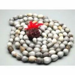 White & Grey Round 108 Beads Vaijayanti Japa Mala, Packaging Type: Box