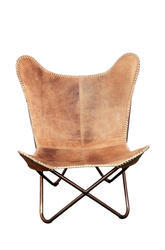 Butter Fly Chairs With Buff Leather