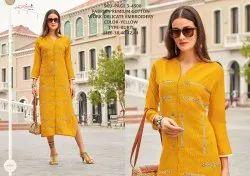 Rachna Premium Cotton Delicate Embroidery Work Page-3 Catalog Kurti For Women 8