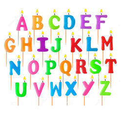 Multicolor Alphabet Letter Candle