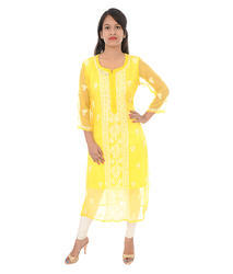 Georgate 6 Colors Georgette Embroidered Kurti