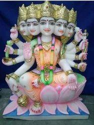 Marble Panch Mukhi Gayatri Statue
