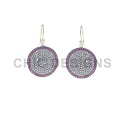 Ruby Diamond Hook Earrings