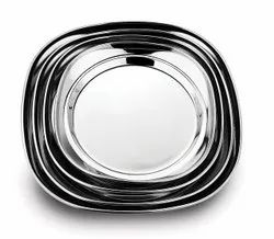 Amit Plain Stainless Steel Snack Plate, For Home, Material Grade: Ss 304