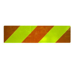 Yellow & Red Stripes Single Sided Zebra Reflective Tape, Packaging Type: Roll