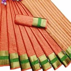 Soft Cotton Silk Saree With Running Blouse
