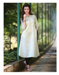 3/4th Sleeve Stylish Wear Kurti, Size: XL