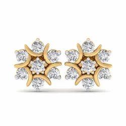 HRB Exports Ladies Polished Diamond Earrings