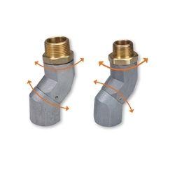 Dual Plane Fuel Nozzle Swivels
