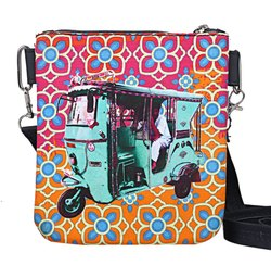 Turquoise Green Taxi Sling Bag