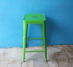 MS Green Colored Bar Stool