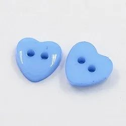 Blue Designer Plastic Button, Packaging Type: Packet, Size/Dimension: 10 Mm