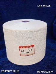 20 Polyester Slub Yarn 1/20 20/1