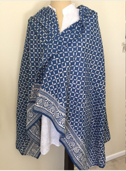 Indigo Blue Cotton Stole