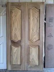 Exterior Burma Teak Wood Double Doors, For Home, 6.7 X 3.5