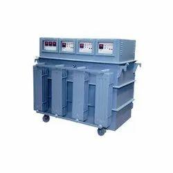Kva Digital Automatic Servo Voltage Stabilizer, Current Capacity: 100A, 440