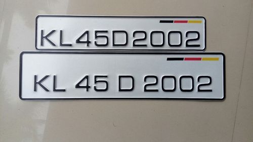 Best Number Plates  Numbers  Letters