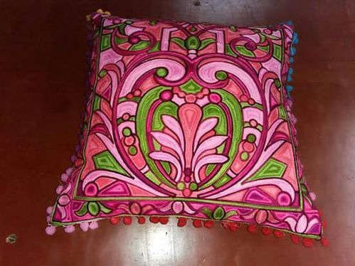Cotton Multicolor Hand Painted Cushion Cover Size 40x40cm Rs 40 Delectable Hand Painted Pillow Covers