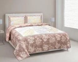 Bed Sheet Leaf Print Cotton Double Bed