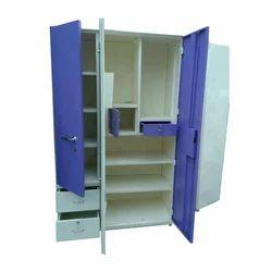 Purple & White Designer Metal Almirah
