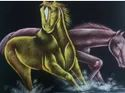 Painting Of Two Horse