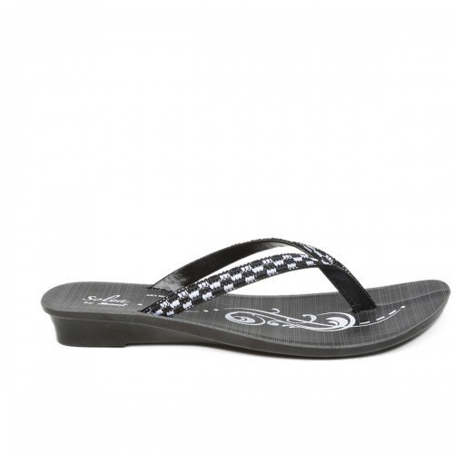 3dbe8f068936 Paragon Women Black And White Solea Flip-Flops Sleeper
