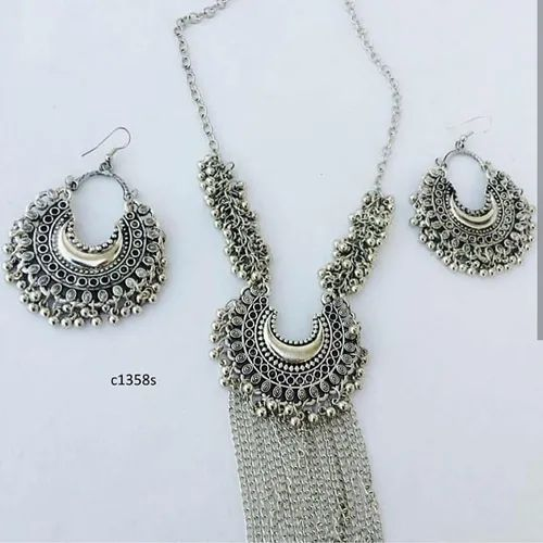 Chain Necklace Contemporary Chandbali Necklace and Earrings, Occasion: Engagement
