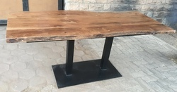S K ARTS MORDEN Live Edge Dining Table, 72*30*30 INCH