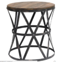 Industrial Round Accent Crank Table
