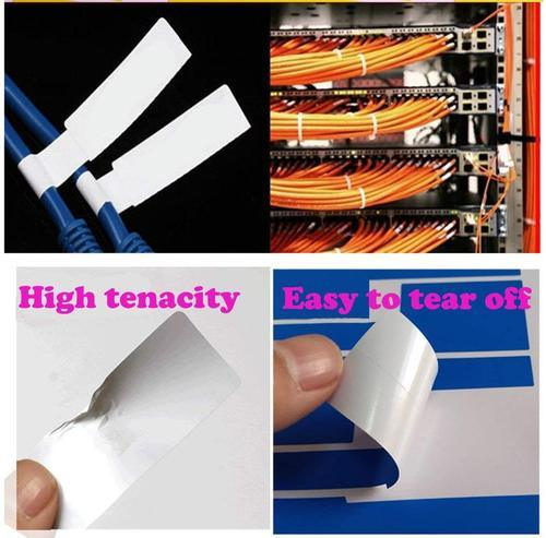 Self-Adhesive Cable Labels Tags Cable Label Stickers A4 Sheets Size  Waterproof and Flexible