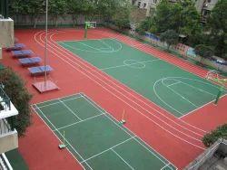 Pu/Pvc Outdoor Sports Flooring