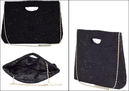 Black Waves Clutch Bag