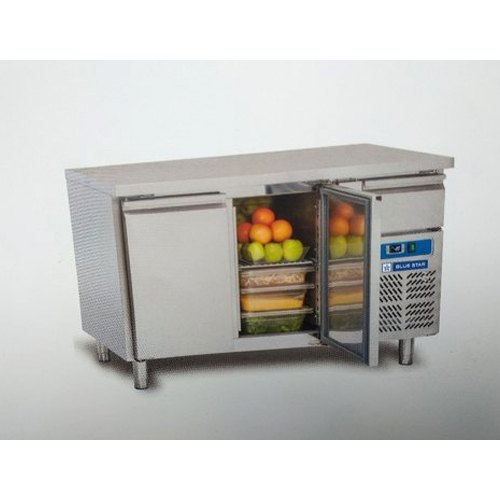 Stainless Steel 313L Blue Star 2 Door Under Counter Chiller, 220-240v, 50hz, -2degree C To 12degree C