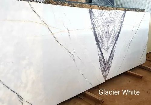 Greece Imported Marble Glacier White Slabs, Application Area: Counter Tops