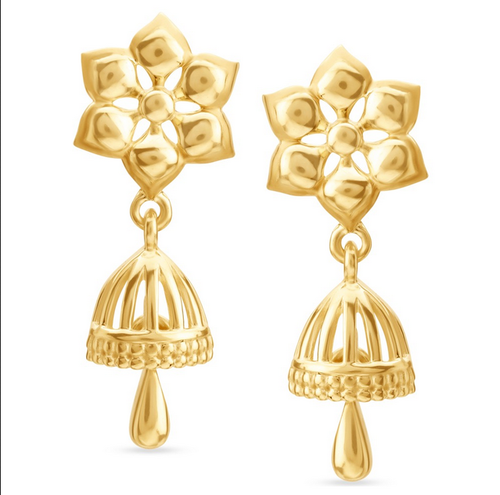 Tanishq 14kt Plain Gold Earrings