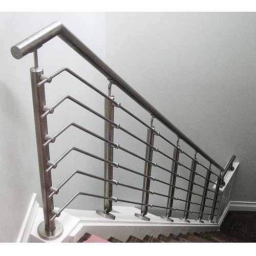 Silver Panel Stainless Steel Railing, Rs 550 /cubic Feet