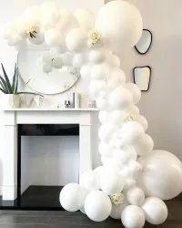 White Balloon Arch