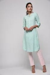 Khadi Rayon Straight Kurti Length 42 Machine Wash Casual Wear