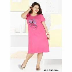 Pink Hosiery Short Nighty