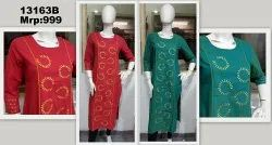 Handloom Embroidered Cotton Casual Kurti